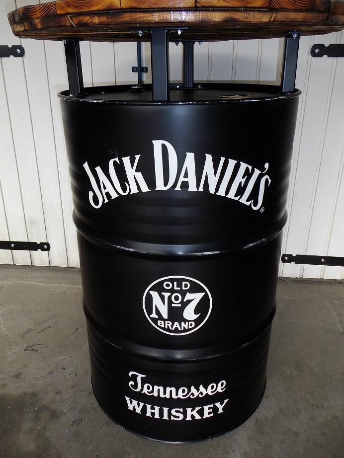 Jack Daniels Fass Tisch.Jack Daniels Whiskey Jim Beam ölfass